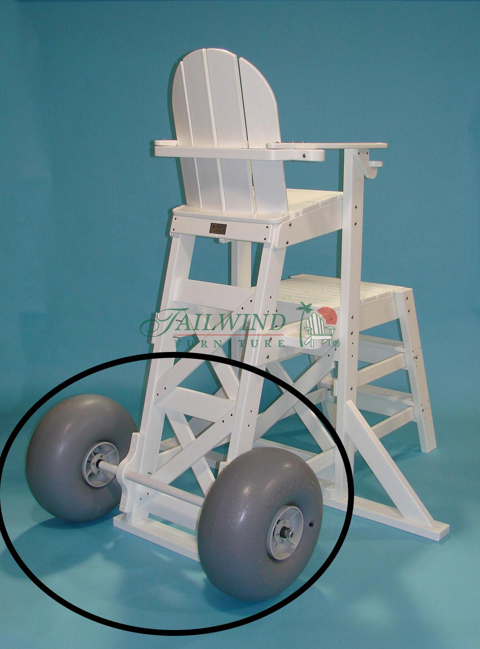 BCWH 563 Large Wheel Kit for all Tailwind Lifeguard Chairs  - (universal for all Tailwind lifeguard chairs)