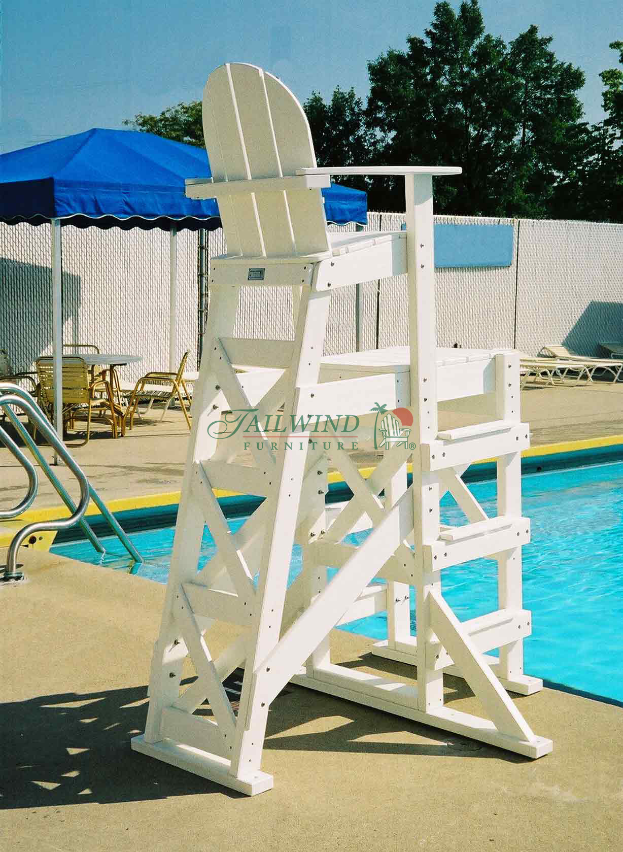 "TLG 530 Tall Lifeguard Chair (side step)  - 52""L x 59""W x 85""H