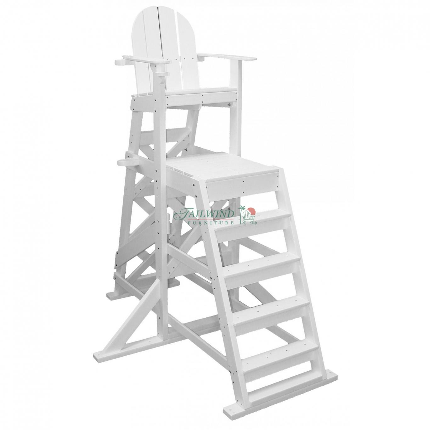 "TLG 535 Tall Lifeguard Chair (front ladder) - 72""L x 59""W x 85""H