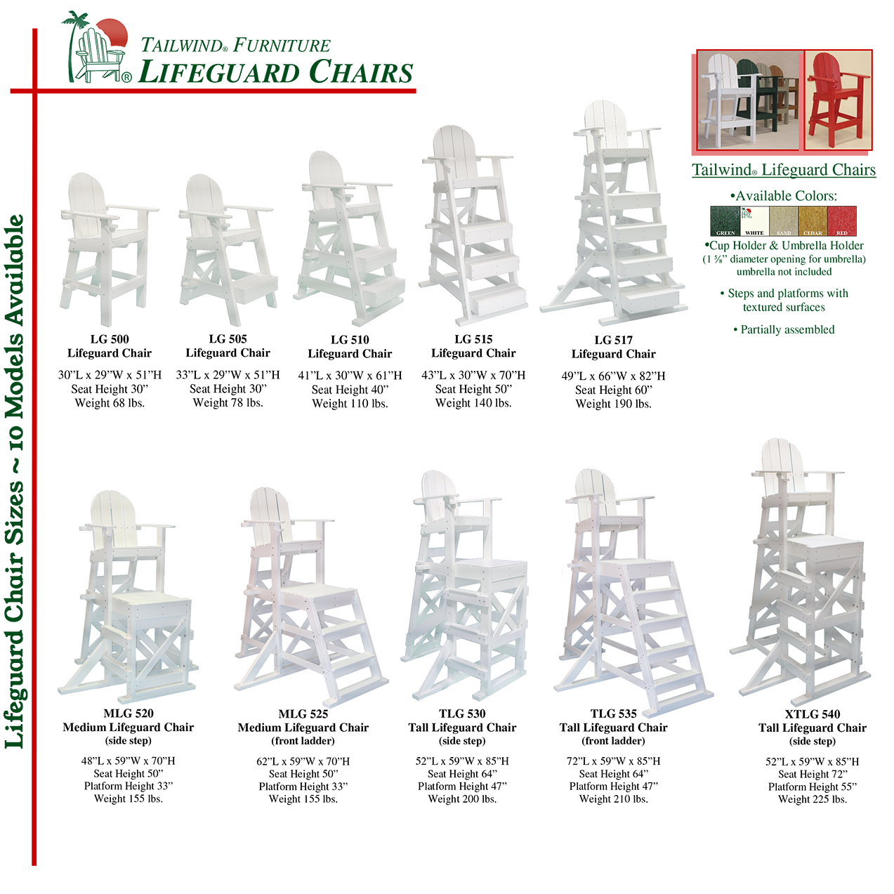 Lifeguard Chairs Sizes - Lifeguard Chair Sizes.