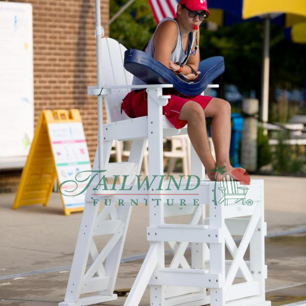 "MLG 520 Medium Lifeguard Chair (side step)  48""L x 59""W x 70""H