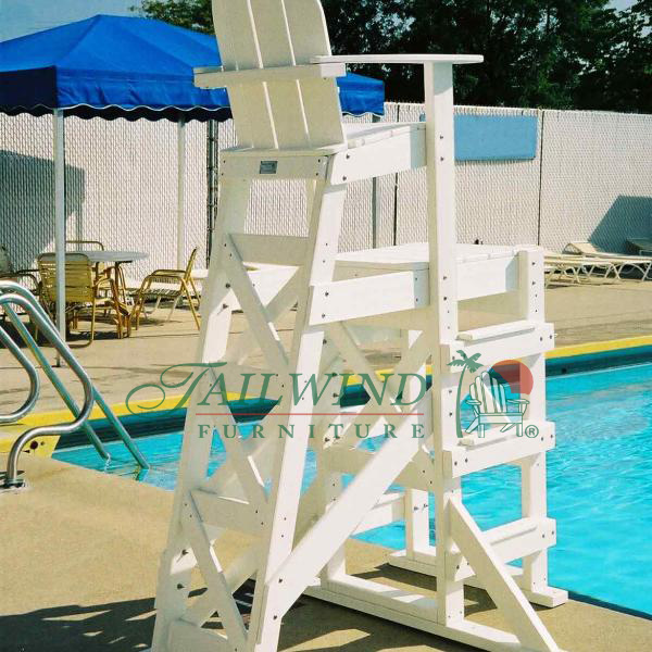 "TLG 530 Tall Lifeguard Chair (side step)  52""L x 59""W x 85""H