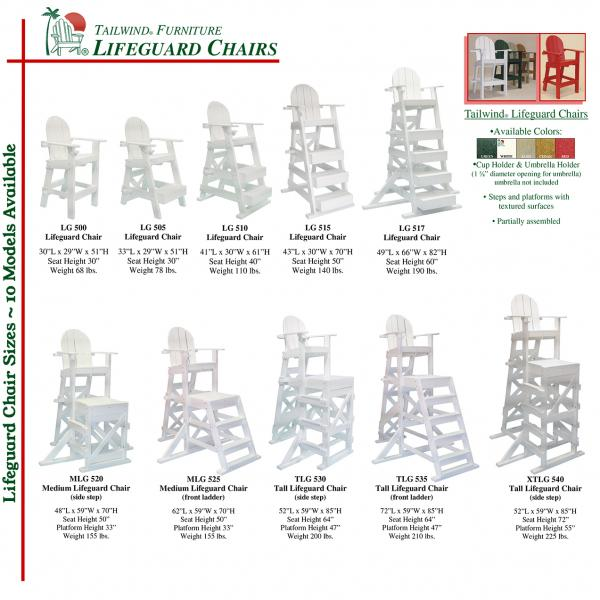Lifeguard Chairs Sizes Lifeguard Chair Sizes.